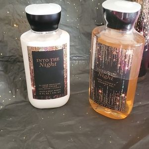 INTO THE NIGHT Bath and Body Works 2 pieces